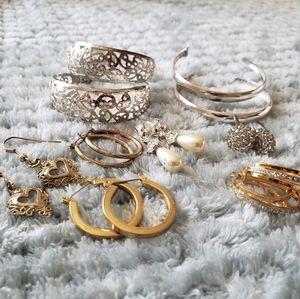 8 Pairs of Vintage Earrings